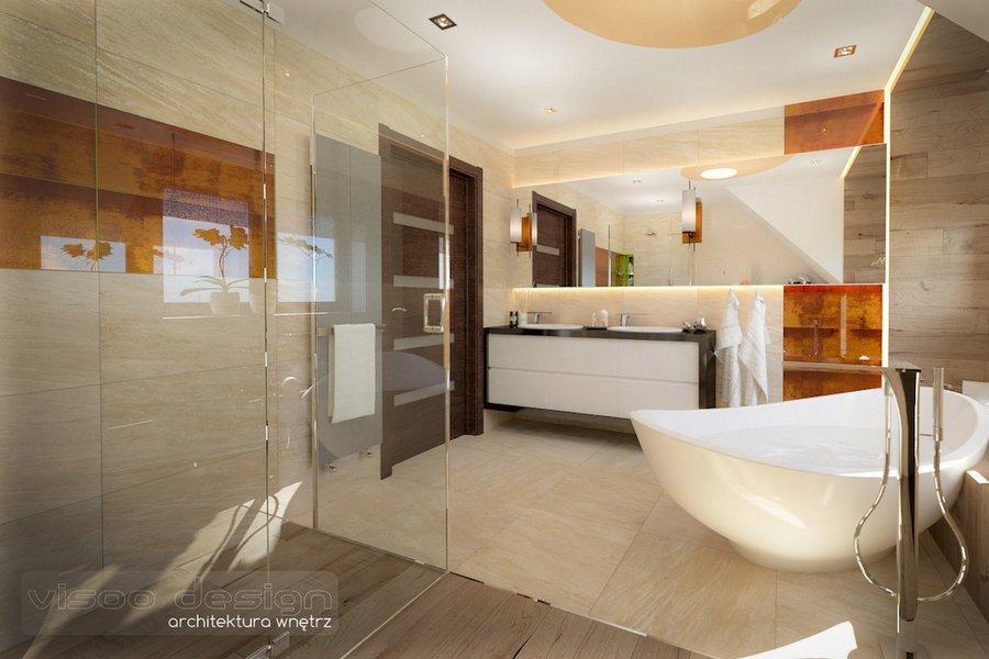 Pokój kąpielowy na poddaszu